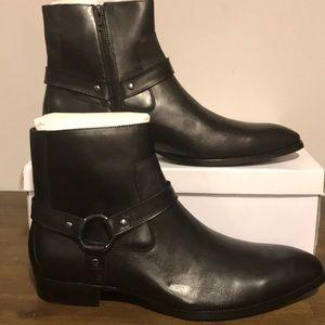 Steve Madden Sebastian Black Leather Ankle Boot 13